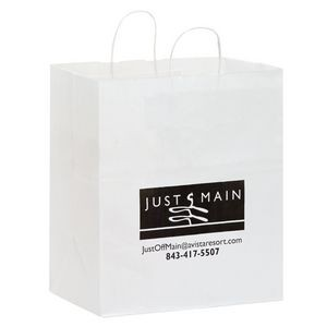 White Kraft Paper Carry-Out Bag (14 1/2