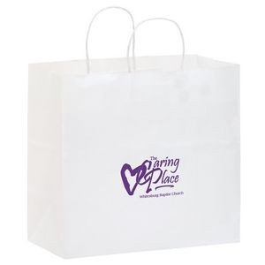 White Kraft Paper Carry-Out Bag (13