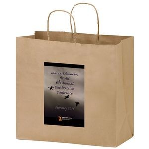 Natural Kraft Paper Carry-Out Bag w/ Full Color (13