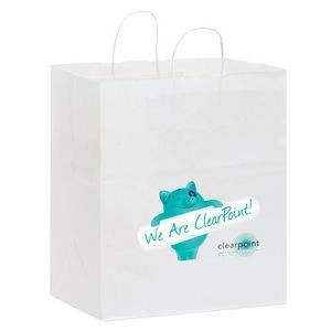 White Kraft Paper Carry-Out Shopper w/ Full Color (14.5