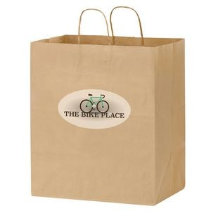 Natural Kraft Paper Carry-Out Bag w/ Full Color (14 1/2
